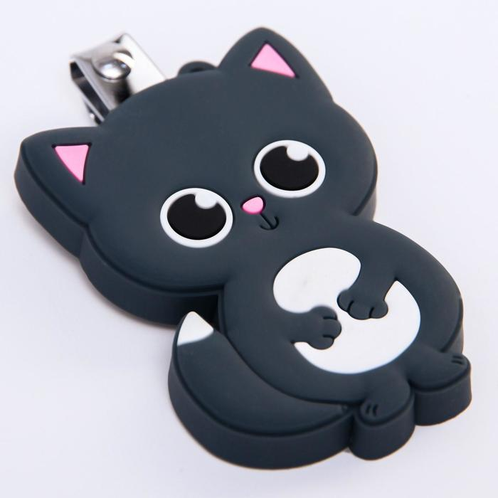 Детские, маникюрные щипчики - книпсеры «Котик» с резиновой игрушкой
