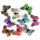 Бабочки перьевые на прищепке «Патагония», 9 см, набор 9 штук