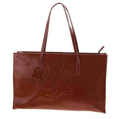 """Сумка женская """"Роза"""" 2 отделения, наружный карман, светло-коричневый"""
