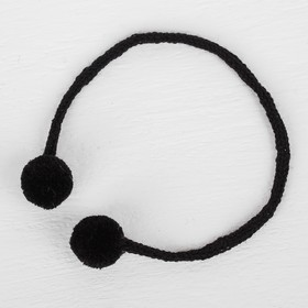 A decorative element on a string 2 balls, d= 1.5 cm, set of 6 PCs, black
