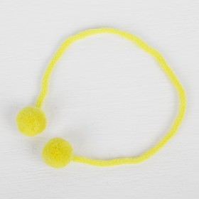A decorative element on a string 2 balls, d= 1.5 cm, set of 6 PCs, color: yellow