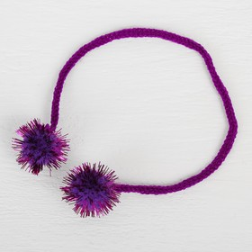 A decorative element on a string 2 balls with glitter, d= 2 cm, set of 8 PCs, color purple