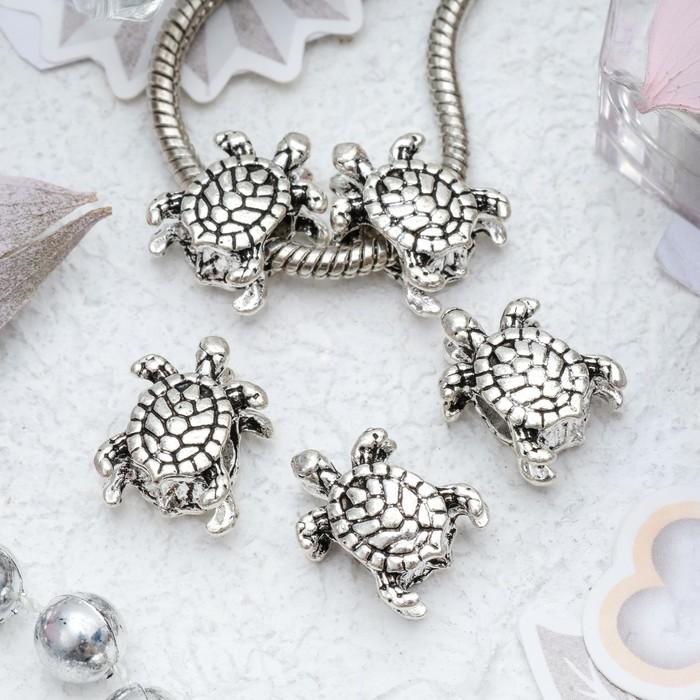 """Талисман """"Черепаха"""", цвет серебро"""