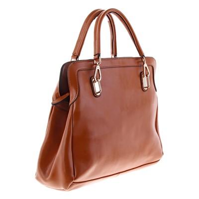 """Сумка женская """"Лора"""" 2 отдела, наружный карман, 4 ручки, коричневый"""