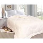 Одеяло «Овечка», 175х205 см, овечья шерсть/иск.лебяжий пух, 200 гр/м2, глоссатин, пэ 100%