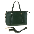 """Сумка женская """"Агнеса"""" 2 отделения, наружный карман, длинный ремень, темно-зеленый"""