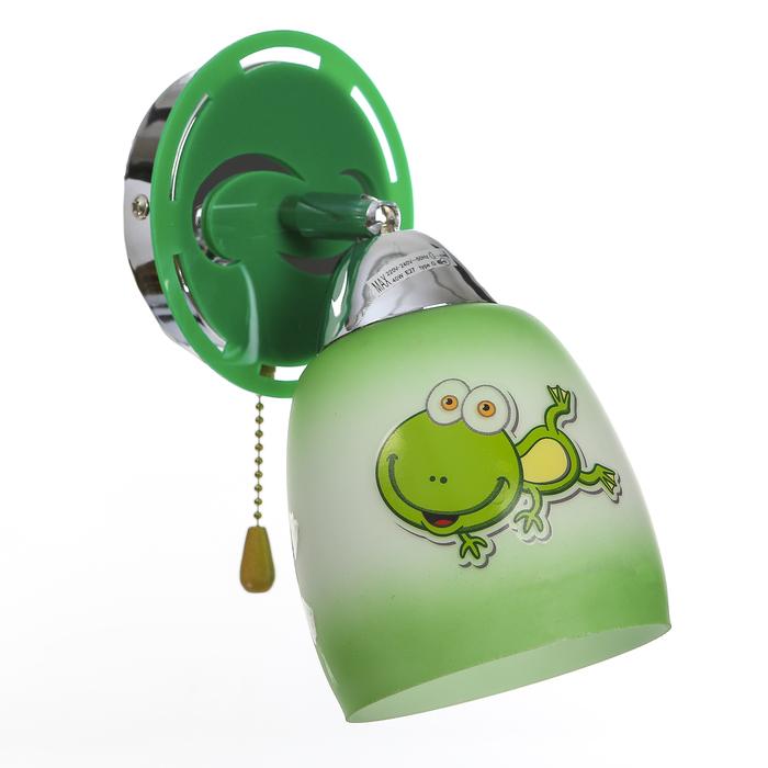"Бра ""Детство"" 1x40Вт E27 зеленый 23х12х16 см."