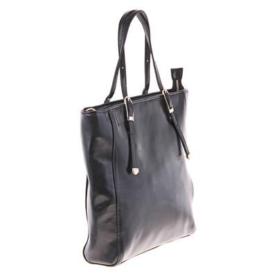"""Сумка женская """"Вита"""" 2 отделения, наружный карман, длинный ремень, черный"""