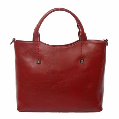 """Сумка женская """"Луиза"""" 2 отделения, наружный карман, длинный ремень, цвет темно-бордовый"""