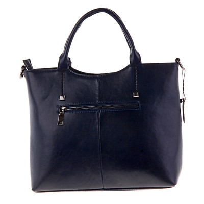 """Сумка женская """"Луиза"""" 2 отделения, наружный карман, длинный ремень, темно-синий"""