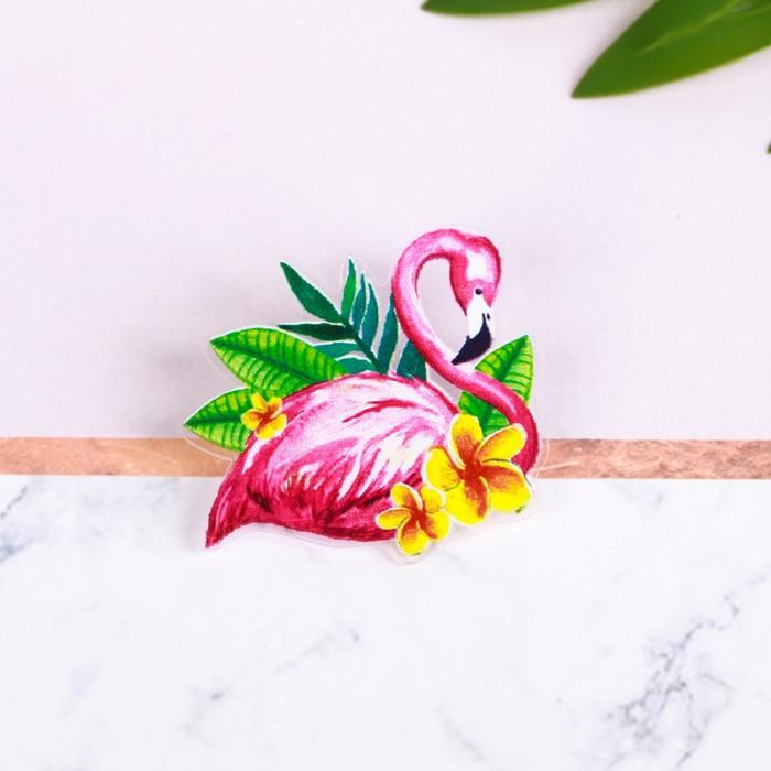 "Значок ""Фламинго"" - фото 297183729"