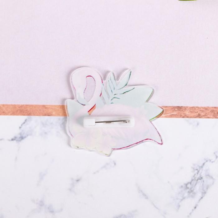 "Значок ""Фламинго"" - фото 297183731"