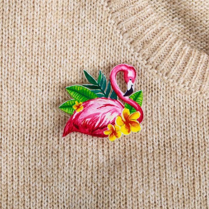 "Значок ""Фламинго"" - фото 297183728"