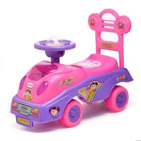 Толокар «Машинка для девочки», с музыкой, цвета МИКС Ош