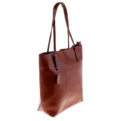 """Сумка женская """"Венера"""" 2 отделения, наружный карман, длинный ремень, светло-коричневая"""