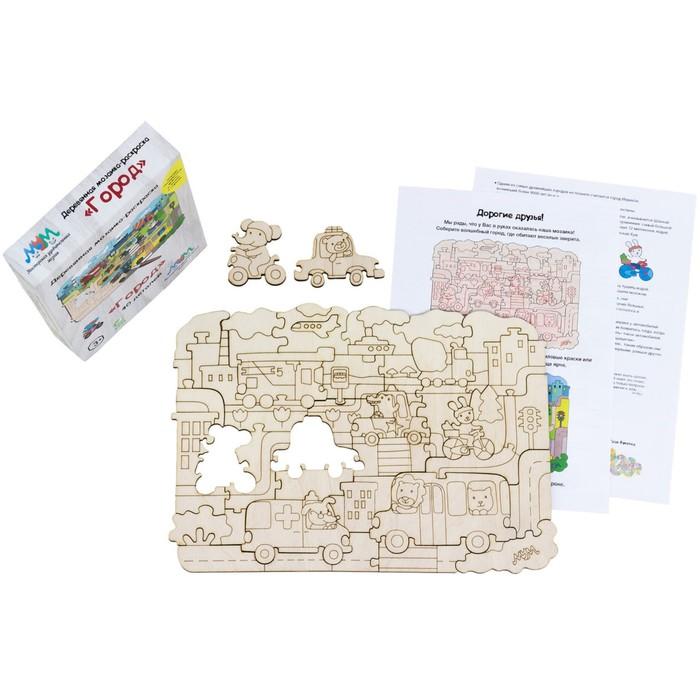 Деревянная мозаика-раскраска «Город»