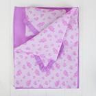 """Постельное бельё для кукол """"Розовые сердечки"""", простынь, одеяло, подушка"""