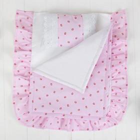 Постельное бельё для кукол «Розочки», простынь, одеяло, подушка