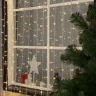 """Гирлянда """"Занавес"""" уличная, УМС, 2 х 6 м, 3W LED-1440-220V, нить белая, свечение тёплое белое"""