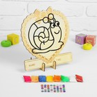 """Applique ball clay series the bottom of the sea """"Snail"""" 8 colors-4 GRS stand"""
