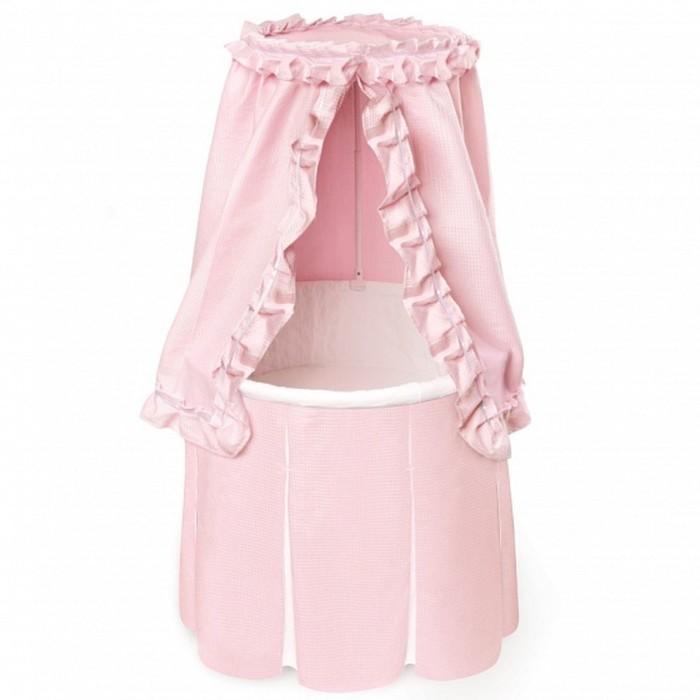 Кроватка-колыбель Solo круглая Pink, цвет розовый