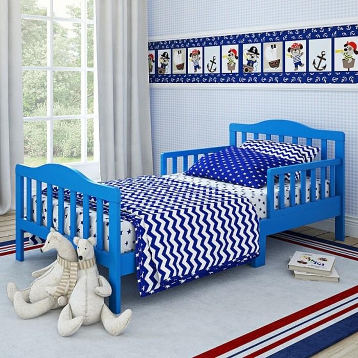 Кровать подростковая Candy Blue, 150 х 70 см, цвет голубой