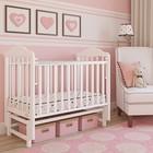 Кровать детская Giovanni Classico White, продольный маятник, цвет белый