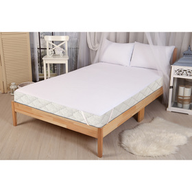 Mattress cover Berezhniy waterproof with an elastic band at the corners of 180x200 cm, chl 80%, plastic 20%