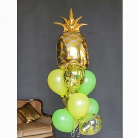 """Фонтан из шаров """"Гавайская вечеринка-2"""", с конфетти, латекс, фольга, 10 шт."""