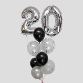 Фонтан из шаров «20 лет», латекс, фольга, 11 шт.