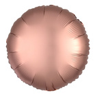 """Шар фольгированный 18"""" """"Круг"""", матовый, цвет розовое золото - фото 308475689"""