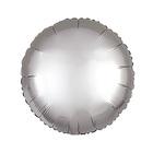 """Шар фольгированный 10"""" """"Круг"""" с клапаном, матовый, цвет серебряный - фото 308475695"""