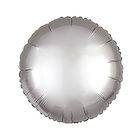 "Balloon foil 10"" ""Circle"" with valve, brushed, color silver"