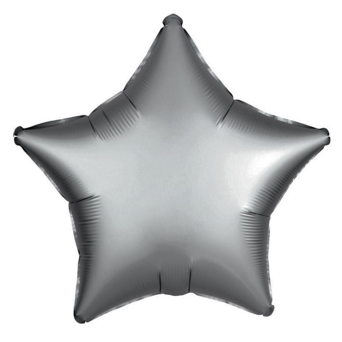 """Шар фольгированный 10"""" """"Звезда"""" с клапаном, матовый, цвет серый - фото 159464605"""