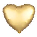 """Шар фольгированный 10"""" """"Сердце"""" с клапаном, матовый, цвет золотой - фото 308475589"""