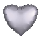 "Balloon foil 10"" ""Heart"" with valve, Matt black"