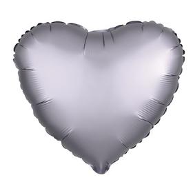 "Balloon foil 10"" ""Heart"" with valve, Matt black"