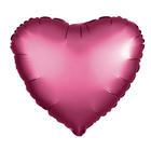 """Шар фольгированный 5"""" """"Сердце"""", матовый, цвет красный"""