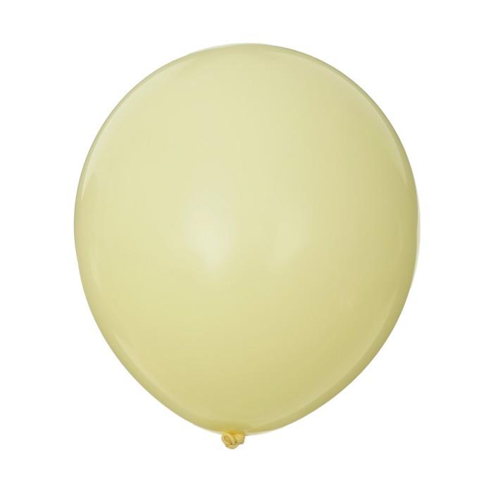 "Шар латексный 6"" «Макарун», набор 15 шт., цвет жёлтый - фото 308470496"
