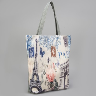 Bag, Department, zip, with lining, color grey