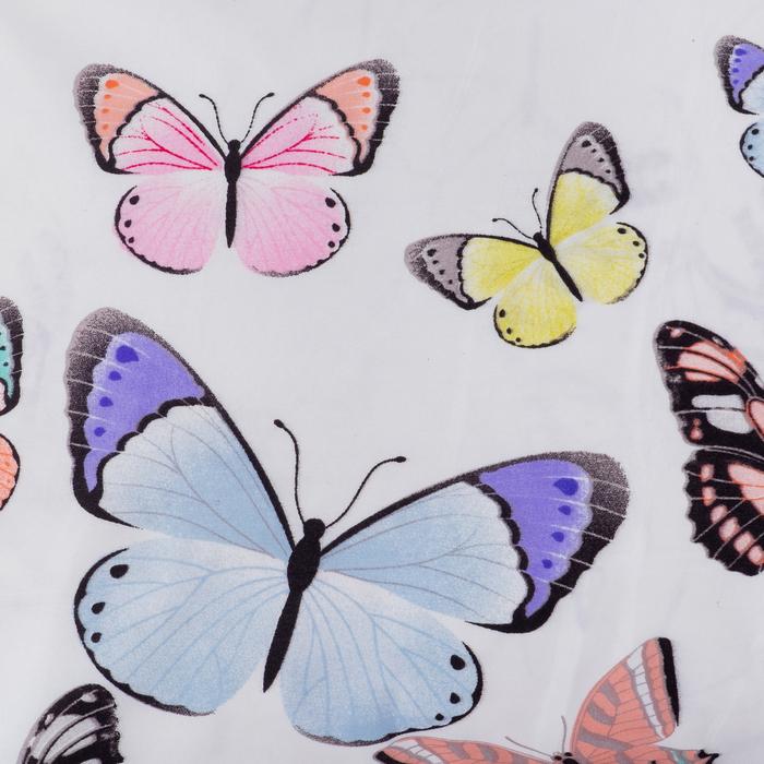 Ткань напечатанная Бабочки ш.220 см,75 г/м2, 30 пм, микрофайбер,100% п/э