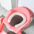 Детская накладка - сиденье на унитаз «Нотки», с мягким сиденьем, цвет розовый - фото 926522