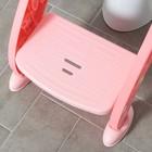 Детская накладка - сиденье на унитаз «Нотки», с мягким сиденьем, цвет розовый - фото 926524