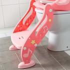 Детская накладка - сиденье на унитаз «Нотки», с мягким сиденьем, цвет розовый - фото 926525