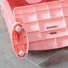 Детская накладка - сиденье на унитаз «Нотки», с мягким сиденьем, цвет розовый - фото 926527