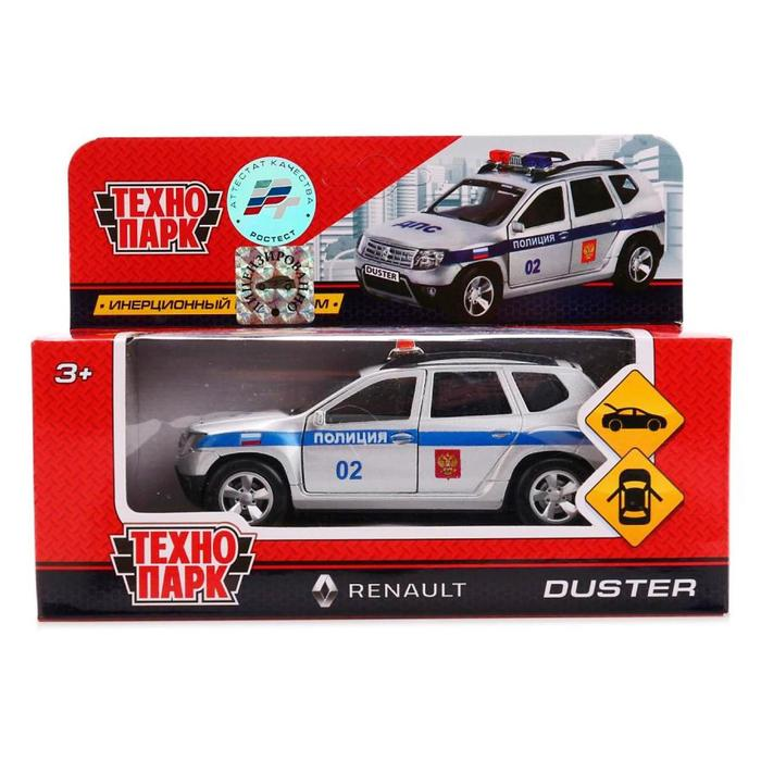 Машина металлическая инерционная Renault Duster «Полиция», 12 см