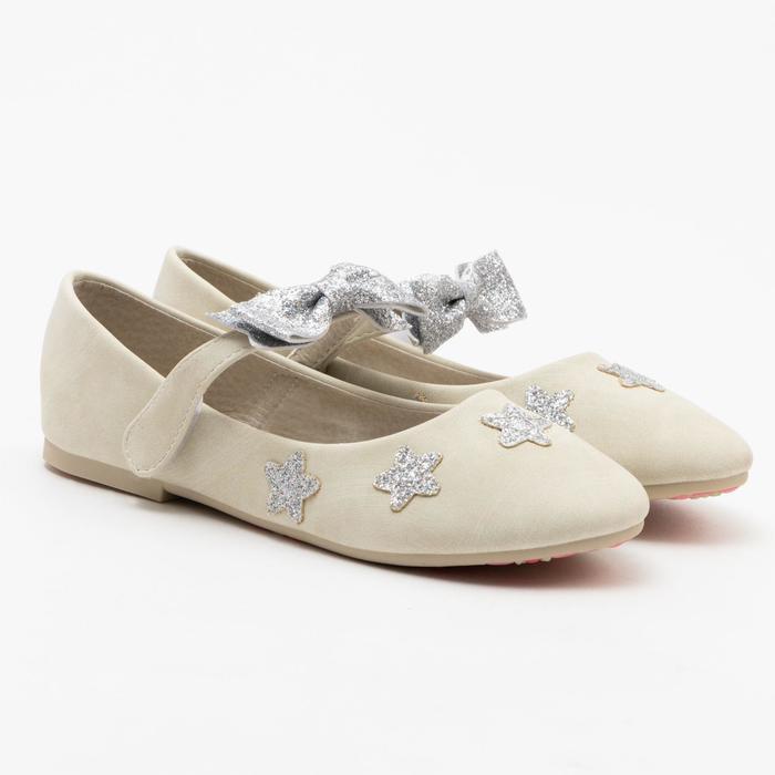 Туфли детские MINAKU, цвет бежевый, размер 32 - фото 1884300