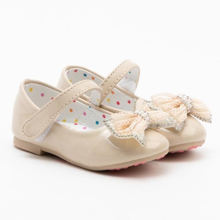 Туфли детские MINAKU, цвет беж, размер 25 - фото 1884490