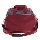 Сумка дорожная, трансформер, 1 отдел, 2 наружных кармана, ремень, цвет бордово-серый