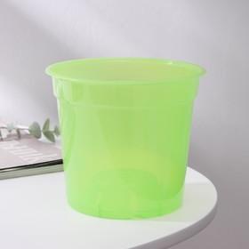 Горшок для цветов 1,5 л 'Орхидея', D=15 см, цвет зелёный Ош